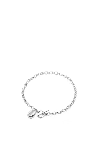 THE TOGGLE II Bracelet with Cowrie Pendant in Silver