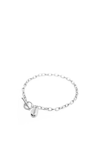 THE TOGGLE I Bracelet with Cowrie Pendant in Silver