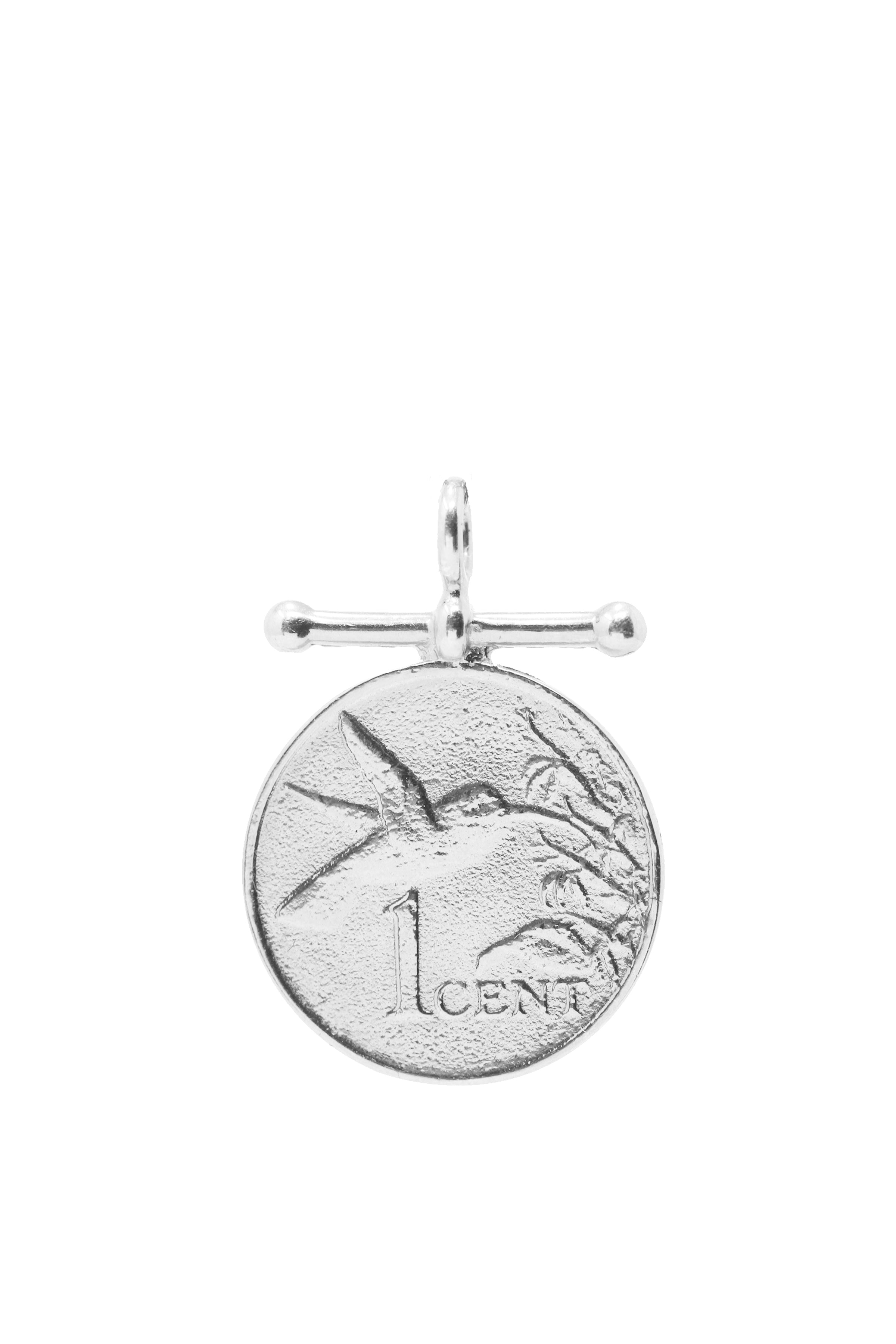 THE TRINIDAD and Tobago Hummingbird Charm in Silver