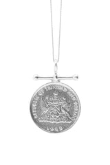 THE TRINIDAD and Tobago Hummingbird Bar Coin Necklace