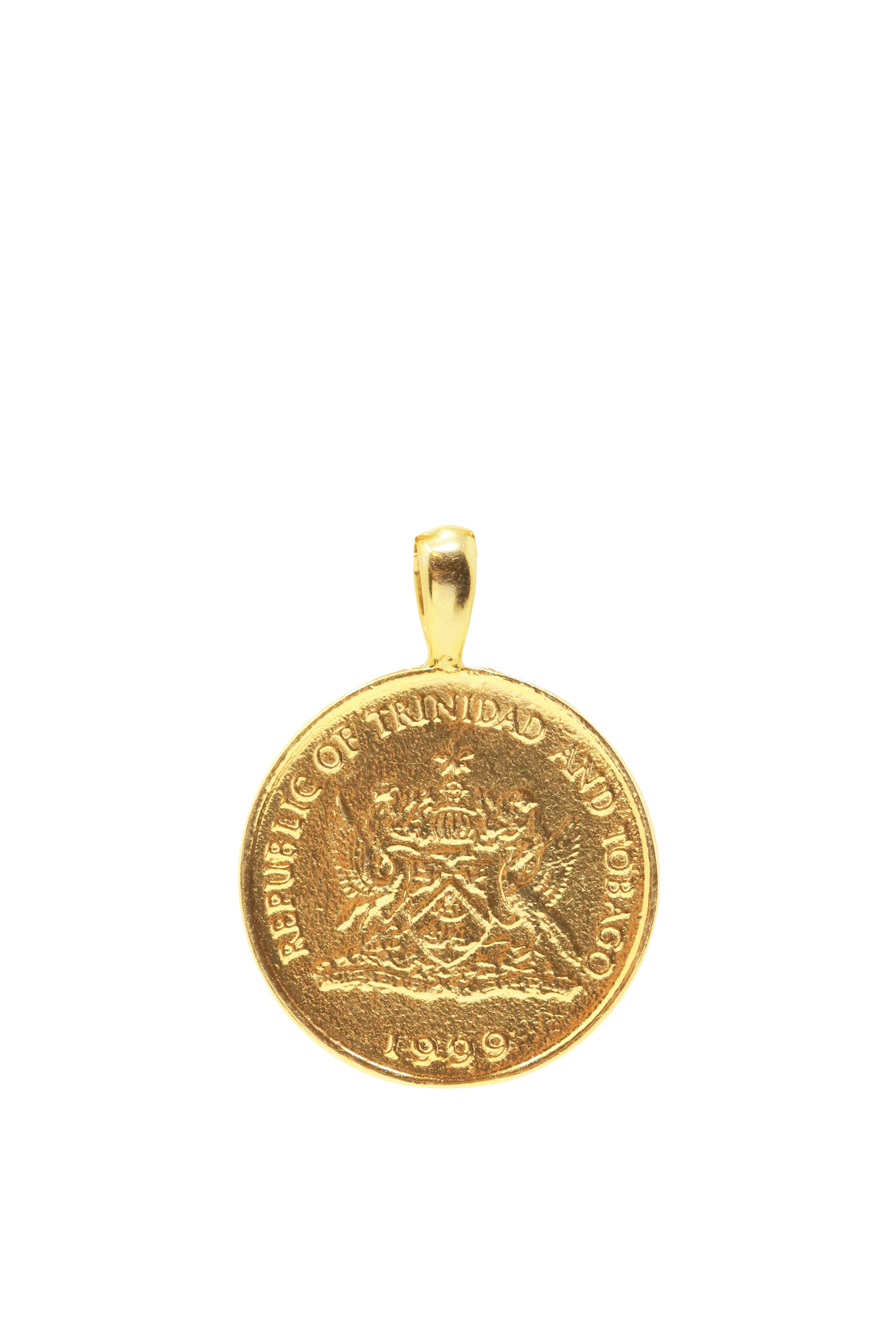 THE TRINIDAD and Tobago Hummingbird Coin Pendant