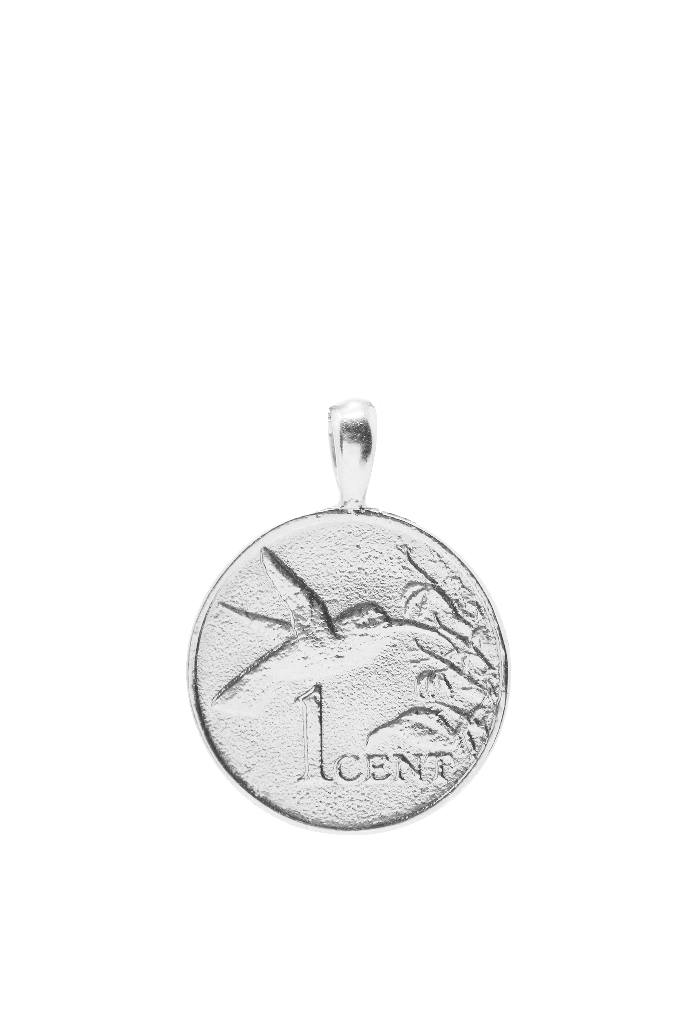 THE TRINIDAD and Tobago Hummingbird Pendant in Silver