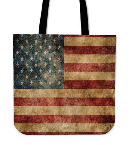 Faded Flag Premium Poly Cotton Tote