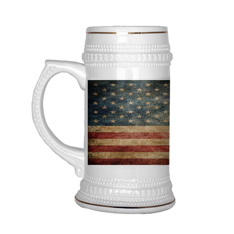 Faded US Flag Beer Stein