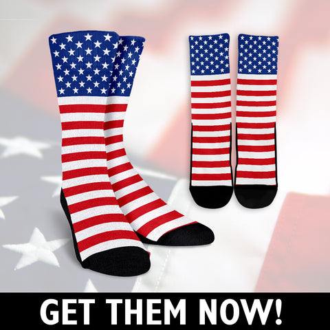 EPIC American Flag Socks