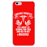 Massage Therapist, NOT Masseuse! Phone Case - Red