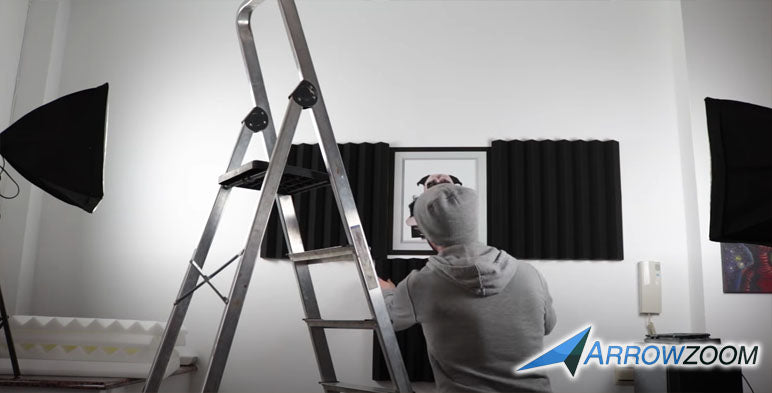 Install the acoustic foam to your desired location in your room.