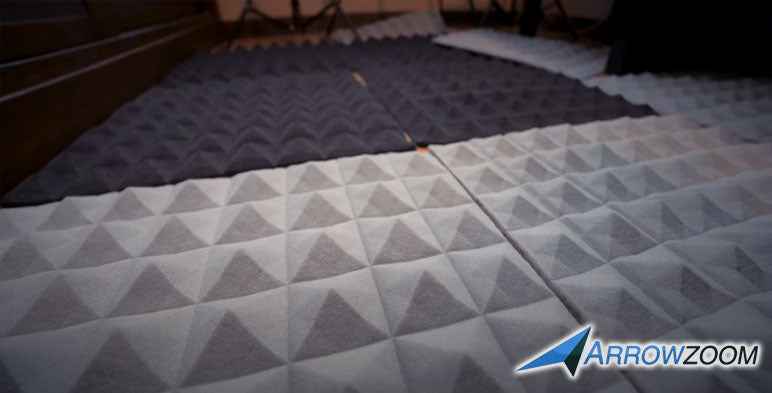 Place the acoustic foams in a open space to restore the original shape.
