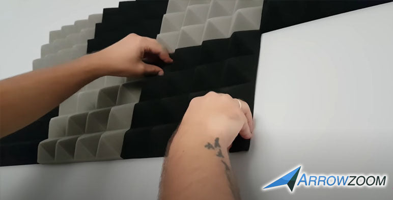 Apply pressure while installing the foam by pressing it properly against the wall.