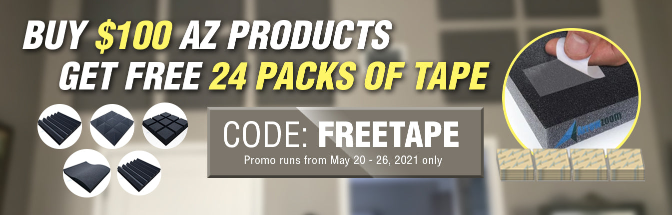 Buy $100 USD Worth of Products, Get Free 24 Pack of Tapes