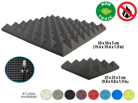 New Pyramid Tiles Acoustic Panels Sound Absorption Studio Soundproof Foam 8 Colors KK1034