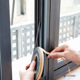 Arrowzoom Stronghold Foam Weather Stripping Insulation Tape Soundproof Self-adhesive Doors and Windows Draught Excluder Foam Seal Door Sweep Wind, Dust, Draft & Insect Proof KK1165