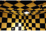 New 12 pcs Bundle Wedge Adhesive Backed Tiles Acoustic Panels Sound Absorption Studio Soundproof Foam 7 Colors KK1054