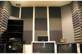 New Wedge Adhesive Backed Tiles Acoustic Panels Sound Absorption Studio Soundproof Foam 7 Colors KK1054