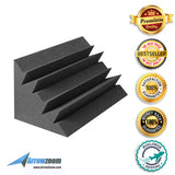 New 8 Pcs Bundle Black Bass Trap Acoustic Panels Sound Absorption Studio Soundproof Foam KK1133