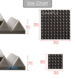 New Pyramid Adhesive Backed Tiles Acoustic Panels Sound Absorption Studio Soundproof Foam 7 Colors KK1053