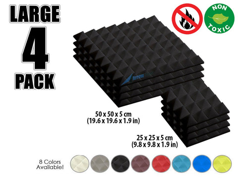 New 4 pcs Bundle Pyramid Tiles Acoustic Panels Sound Absorption Studio Soundproof Foam 8 Colors KK1034