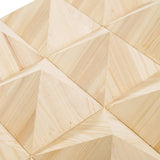 New Pyramid Acoustic Diffuser Wood Panels Sound Absorption Studio Soundproof Panel 60 X 60 X 8 cm (23.6 X 23.6 X 3.1 in) KK1099
