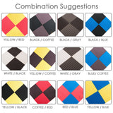 New 24 pcs Bundle Wedge Adhesive Backed Tiles Acoustic Panels Sound Absorption Studio Soundproof Foam 7 Colors KK1054
