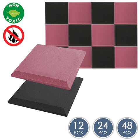 Arrowzoom Flat Bevel Tile Series Black x Burgundy Bundle KK1039