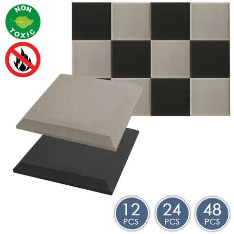 Arrowzoom Flat Bevel Tile Series Black x Gray Bundle KK1039