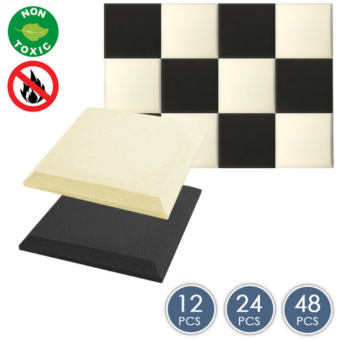 Arrowzoom Flat Bevel Tile Series Black x Pearl White Bundle KK1039