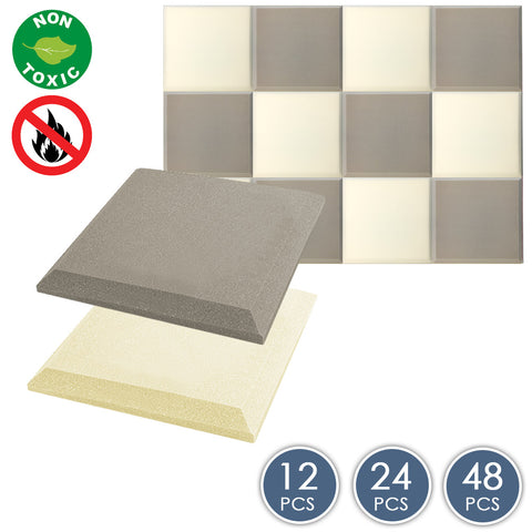 Arrowzoom Flat Bevel Tile Series Gray x Pearl White Bundle KK1039