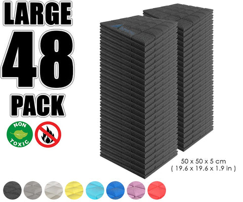 New 48 pcs Bundle Hemisphere Grid Type Acoustic Panels Sound Absorption Studio Soundproof Foam 8 Colors KK1040
