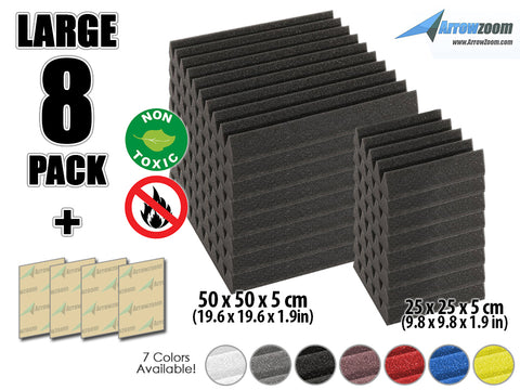 New 8 pcs Wedge Tiles Acoustic Panels Sound Absorption Studio Soundproof Foam 7 Colors KK1134