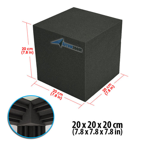 New 1 pc Cube Corner Bass Trap Block Acoustic Panels Sound Absorption Studio Soundproof Foam 20 x 20 x 20 cm KK1135