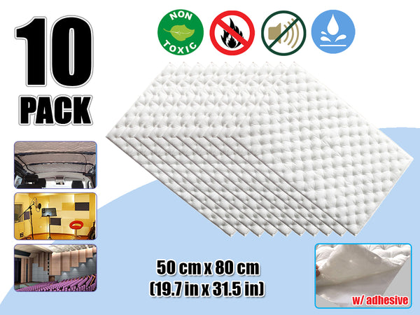 Arrowzoom 10 Pcs Auto Car Quiet Insulation Mat Automotive Deadener Soundproof Audio Insulation Cotton KK1147