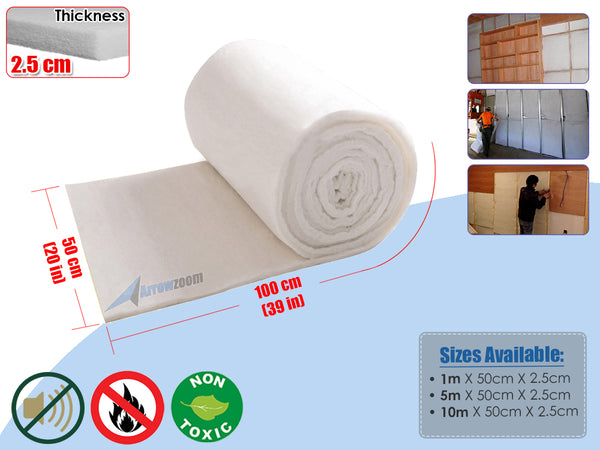 Arrowzoom Eco Friendly Acoustic Polyester Fiber Sheet Automotive Car Van Upholstery Grade Batting Sound-absorbing Cotton Insulation Roll KK1158