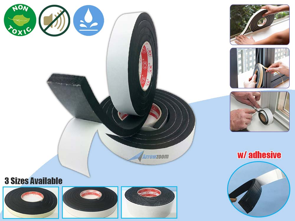 Draught Excluder Tape Seal Doors Windows Foam Weather Strip Insulation