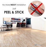 Arrowzoom 4 PCS Classy Marble Design PVC Tiles Vinyl Flooring Self Adhesive Luxury Wall and Floor Planks Decorative Wood and Ceramic Pattern 30 x 30 cm KK1175