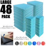 Arrowzoom Egg Crate Adhesive Backed Tiles Series Solid Colors KK1219