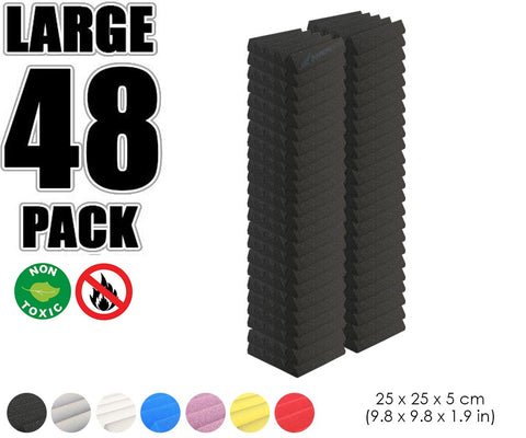 New 48 pcs Wedge Tiles Acoustic Panels Sound Absorption Studio Soundproof Foam 7 Colors KK1134