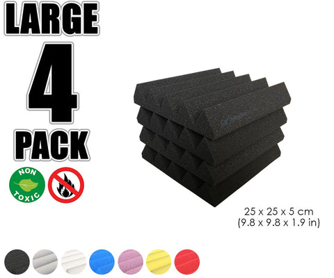 New 4 pcs Wedge Tiles Acoustic Panels Sound Absorption Studio Soundproof Foam 7 Colors KK1134