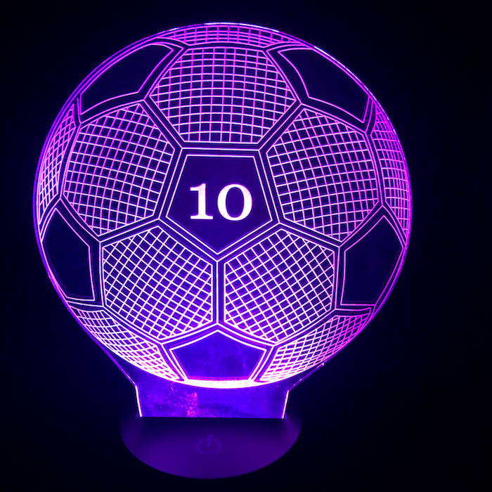Personalized Soccer Ball Led Lamp Jazzy Shopper