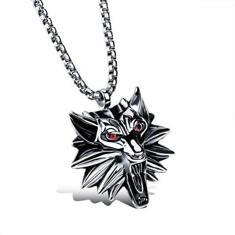 Stainless Steel Wolf Necklace