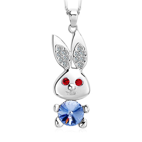Bunny Rabbit Crystal Necklace