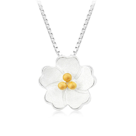 Silver Plum Blossom Necklace