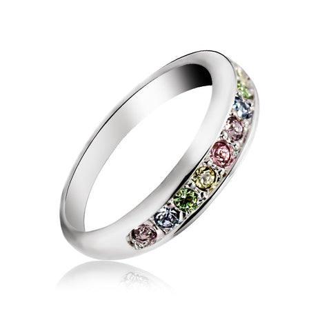 Rainbow Crystal Eternity Ring (Women)