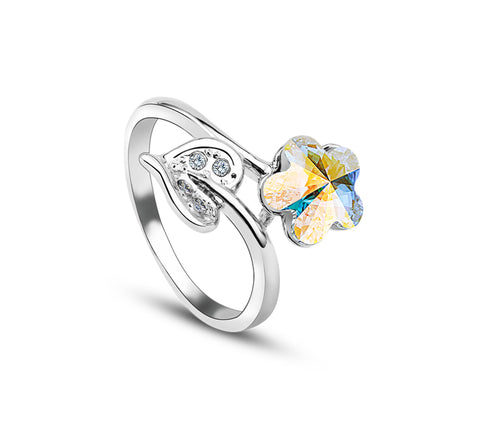 Colorful Crystal Friendship Ring (Women)
