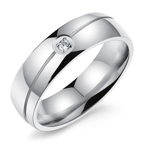 Modern Titanium Steel Band Ring (Men)