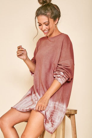 Layer Of Fog Dress - Mauve