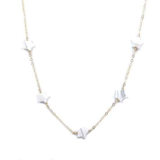 Shoot Stars Necklace - Pearl