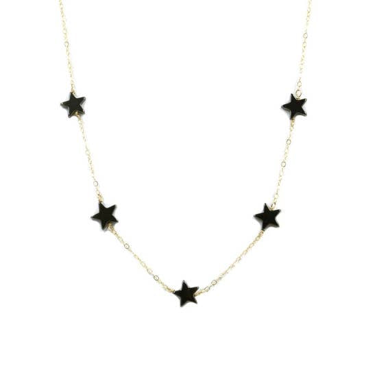 Shoot Stars Necklace - Hematite