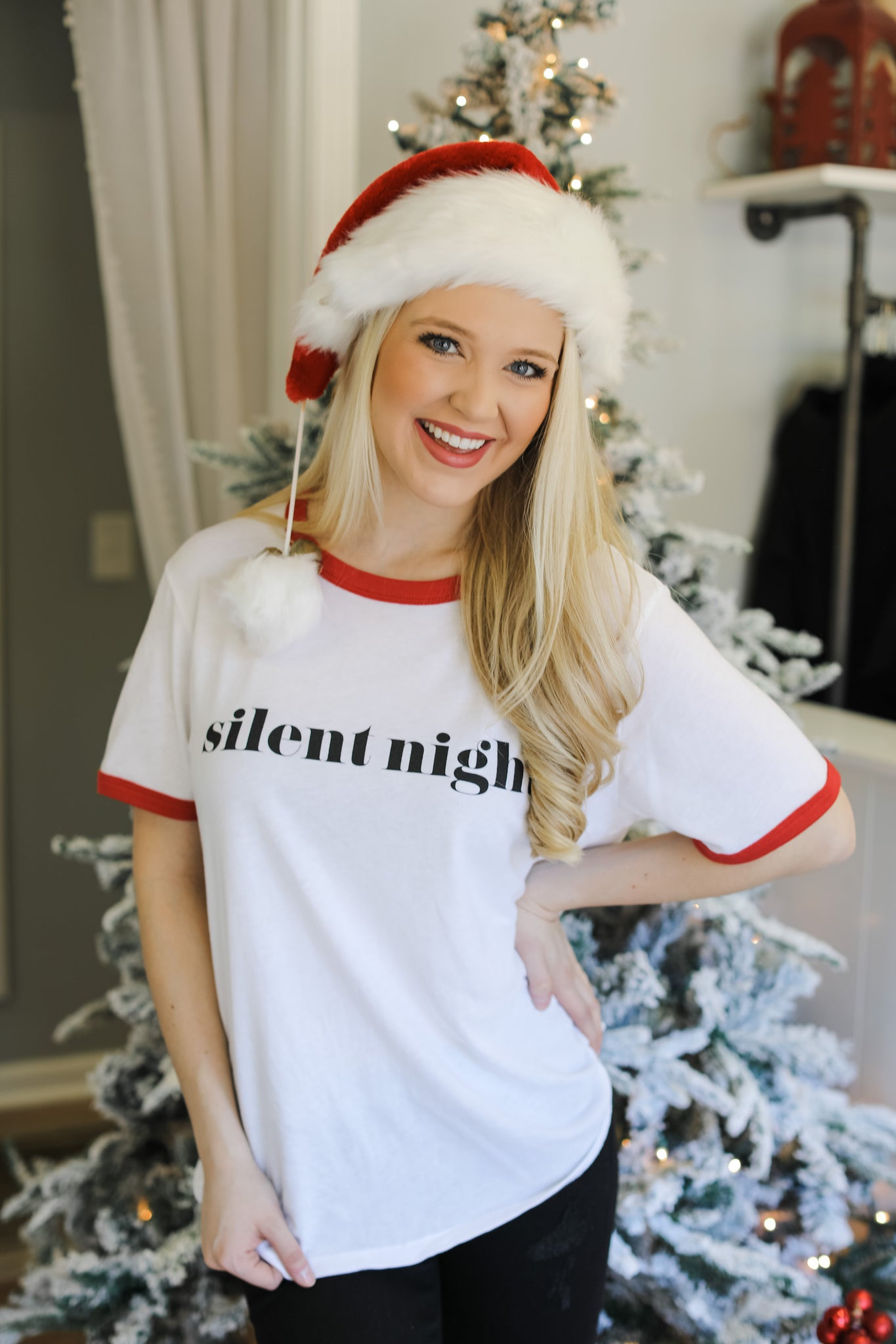 Silent Night Ringer Tee