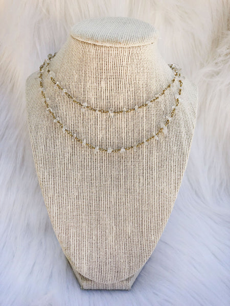 Crystal Clear Necklace - Bates Boutique