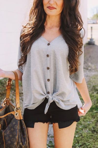 In The Shadows Top - Grey